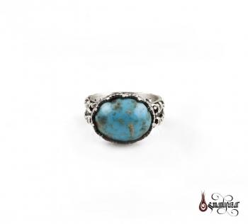 Firuze Taşlı 925 Ayar Gümüş Yüzük - Thumbnail