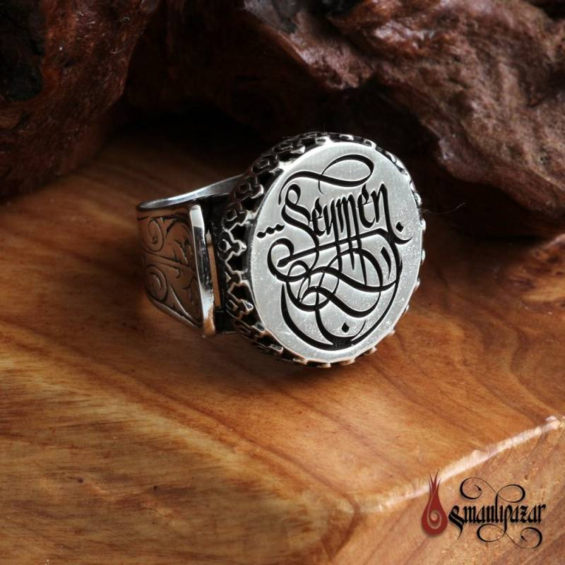 İsme Özel Hat Sanatlı 925 Ayar Gümüş Yüzük