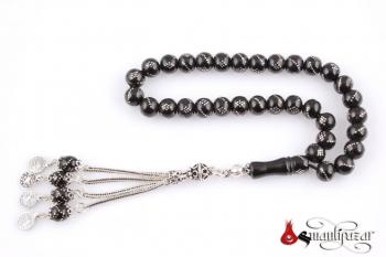 Oltu Tesbih 925 Gümüş Püsküllü - Thumbnail