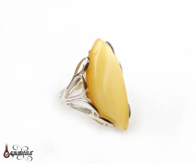 Orjinal KEHRİBAR Taşlı 925 Ayar Bayan Gümüş Yüzüğü