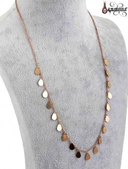 Tiffany Zincir Kolye Damla Model 925 Ayar Gümüş - Thumbnail
