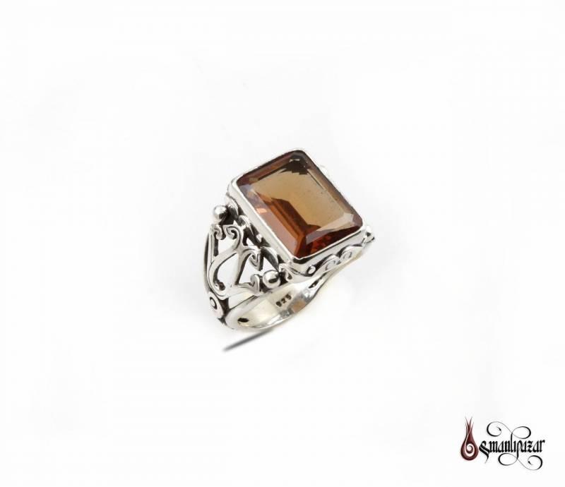 Zultanit Taşlı 925 Ayar Gümüş Yüzük
